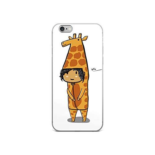 iPhone 6/6s Case Anti-Scratch Animated Cartoon Transparent Cases Cover Giraffe Costume Cartoons Caricature Crystal Clear -