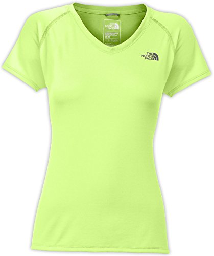 (The North Face Women's Short-Sleeve Reaxion AMP V-Neck TEE)