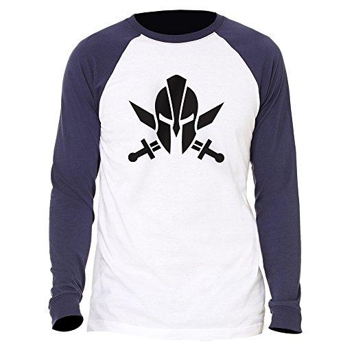 - Spartan Molon Labe Long Sleeve Jersey Baseball T-Shirt XX-Large Navy