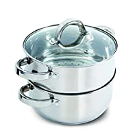 Deals on Oster Hali Steamer Set with Lid for Stovetop Use, Stainless Steel