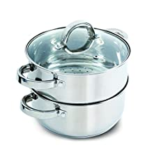 Oster 108132.03 Hali Steamer Set with Lid for Stovetop Use, Stainless Steel