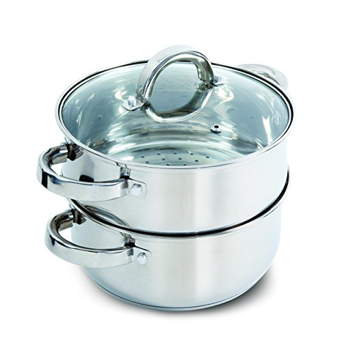 Oster Sangerfield Steamer Set with Lid for Stovetop Use, Stainless Steel (Steamer Stainless)