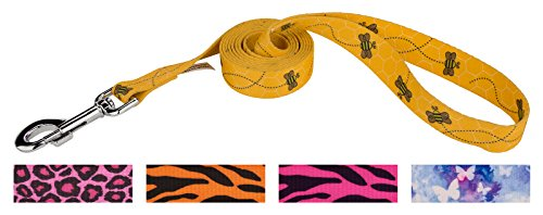 Country Brook Design | 5/8 Inch Busy Bee Dog Leash - 6 Foot