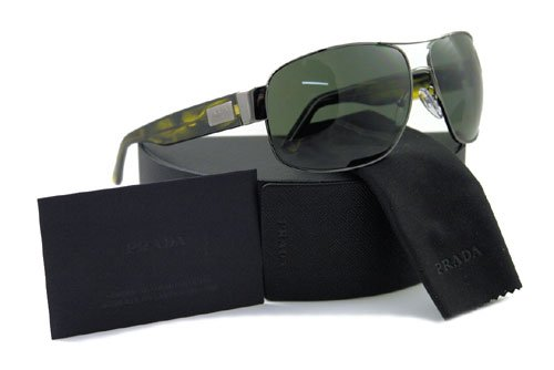 808fed9740 PRADA SUNGLASSES SPR 61L 5AV-301 OLIVE SPR61L  Amazon.ca  Clothing ...