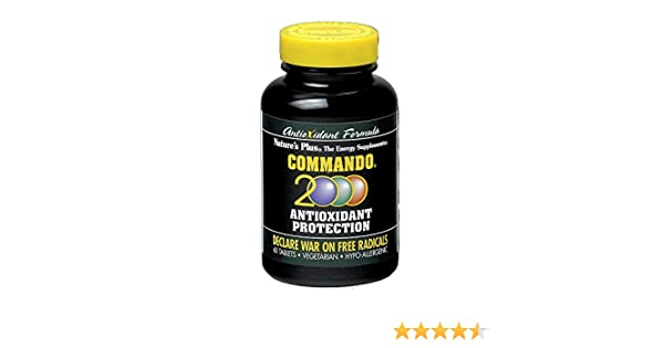 Natures Plus Commando 2000 Antioxidante - 60 Comprimidos