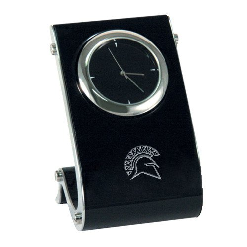 St Thomas Aquinas Eclipse Desk Clock 'Official Logo Engraved' by CollegeFanGear