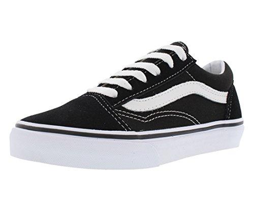 (Vans Kids Old Skool Black/True White Skate)