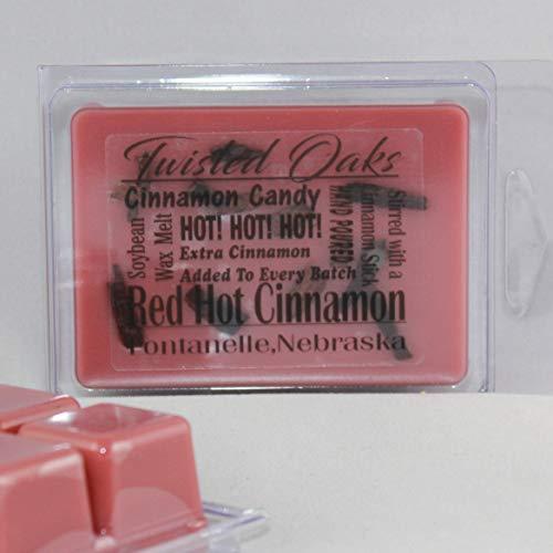 (Red Hot Cinnamon! Soybean Blend Wax Melt. Hand Poured by Twisted Oaks Wax Works, Nebraska. )