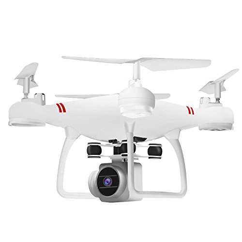 Amyove Drone Quadcopter HJ14W Wi-Fi Remote Control Aerial Photography Drone HD Camera 200W Pixel UAV Gift Toy Best Gift for Kids White