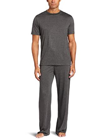 American Essentials Men's Luxurious Essentials Pajama Gift Set, Charcoal Heather, X-Large