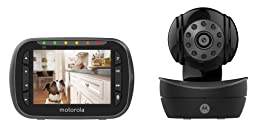 Motorola Pet Scout2300 Remote Wireless Pet Monitor with 3.5-Inch Color LCD Screen, Infrared Night Vision, Remote Camera Pan, Tilt and Zoom