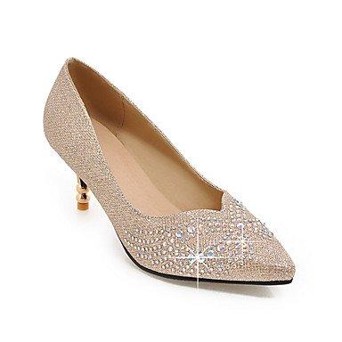 Talones de las mujeres Zapatos Primavera Verano Otoño Invierno Club de materiales personalizados banquete de boda y vestido de noche gatito talón del brillo chispeante Silver