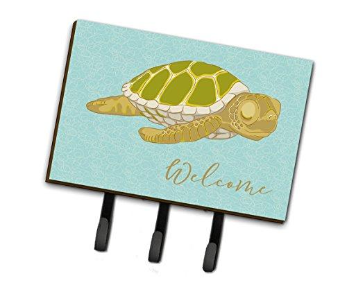 Caroline's Treasures BB8562TH68 Sea Turtle Welcome Leash or Key Holder, Triple, Multicolor