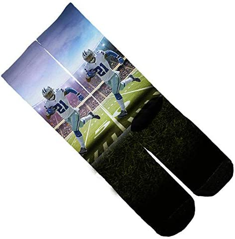 One Size 6-12 Multi Crew Elite Ezekiel Elliot Run Spotlight Field Socks Memo Apparel