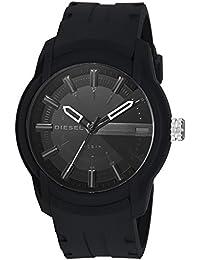 Men's Armbar Silicone Casual Watch, Color: Black (Model: DZ1830)