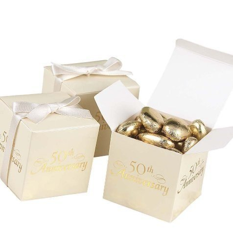 50th Anniversary Favor Boxes - 50th Anniversary Favor Boxes : package of 25