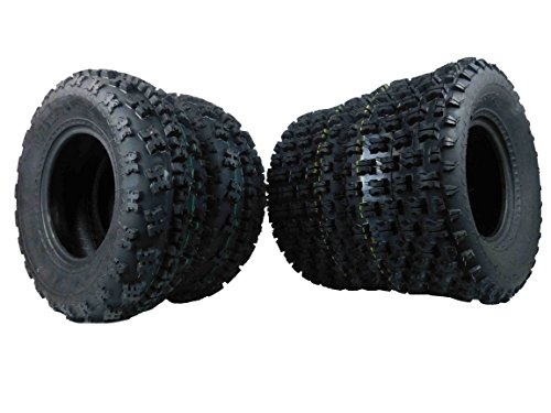 Full Set Of MASSFX Front (2x) 21X7-10 and rear Tires (2x) 20X10-9 ATV Tires Pair