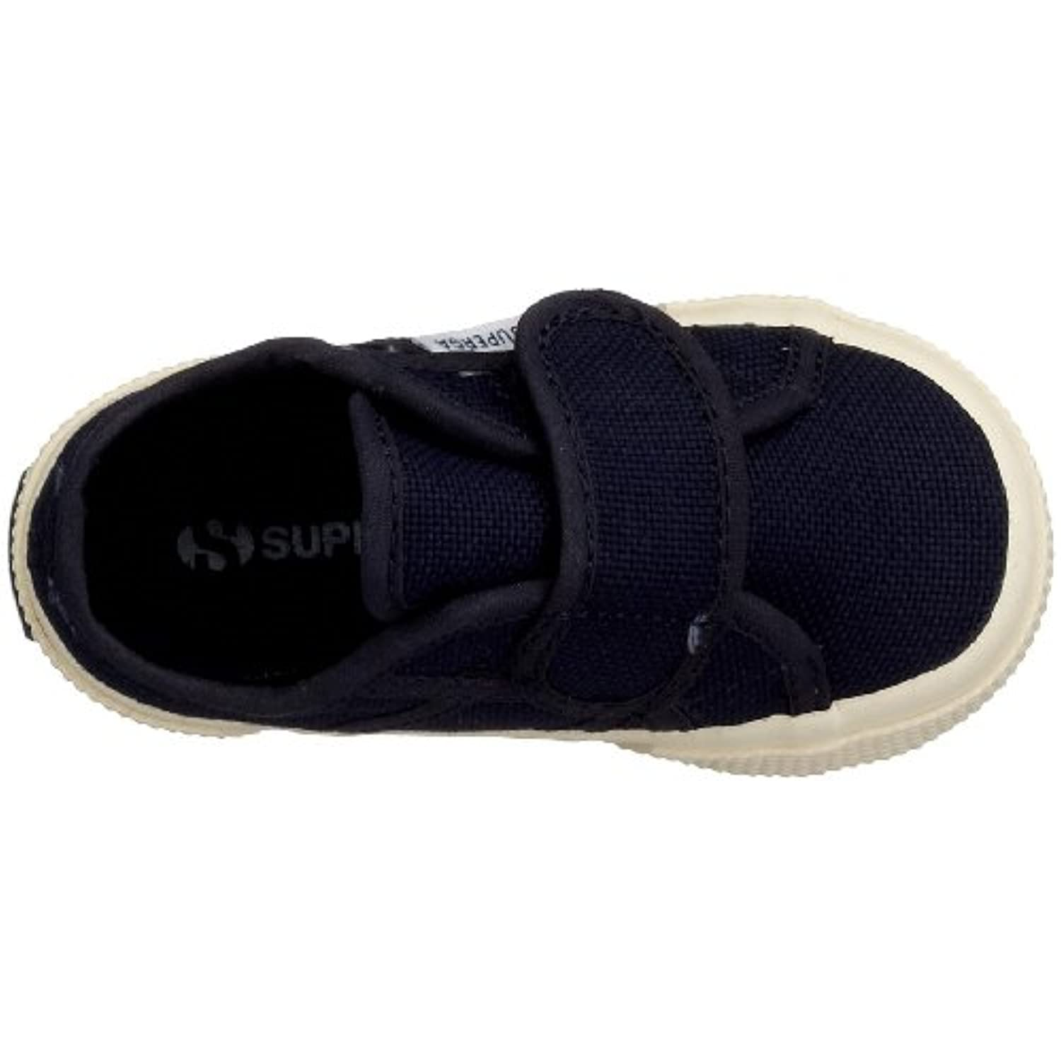 Superga 2750 Bvel, Unisex Kids' Low-Top Sneakers, Blue (Navy), 2 Child UK (18 EU)