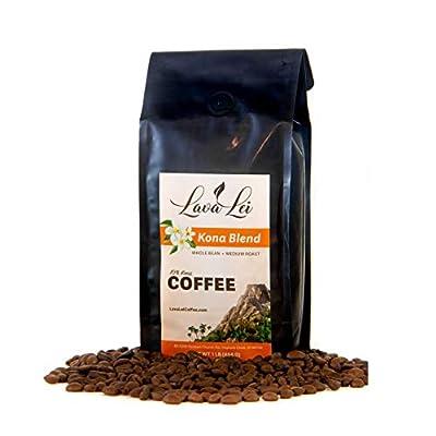 Lava Lei Kona Whole Bean - Medium Coffee Blend, Gourmet, Estate Grown, Private Reserve, Hawaiian Made, Premium, Fresh Farm, Great Hawaii Flavor from Lave Lei