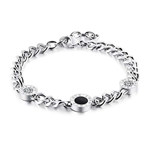 - Designer (BVLGARI Inspired) Diamond Crystal Love Bracelet Silver