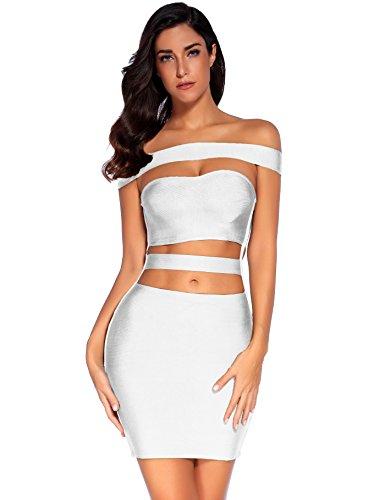 off white cut out bandage dress - 2