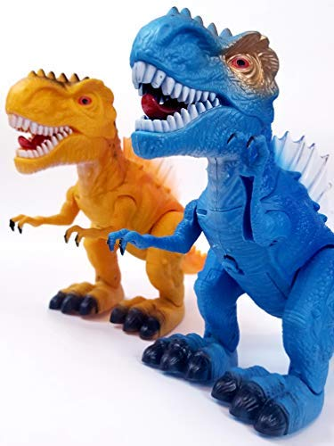T-Rex Electronic Walking Dinosaur with Flashing Lights and Realistic Animal Sounds (Blue) by Vabliss (Image #9)