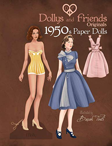 Fashions Paper - Dollys and Friends Originals 1950s Paper Dolls: Fifties Vintage Fashion Paper Doll Collection