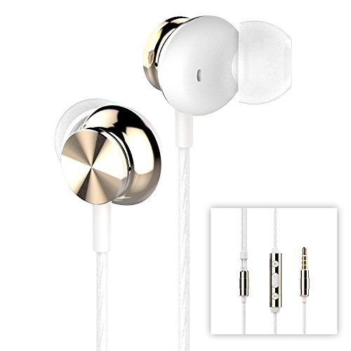 Betron BS10 Earphones Headphones, Powerful Bass Driven Sound, 12mm Large Drivers, Ergonomic Design with Remote Control and Microphone for iPhone, iPad, iPod, Samsung