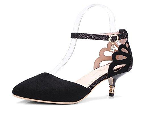 delle donne YCMDM scarpe tacchi Primavera Estate Autunno Inverno Piattaforma Comfort Party & Sera di nozze a spillo tacco casual imitazione PearlBlack , black , us8 / eu39 / uk6 / cn39