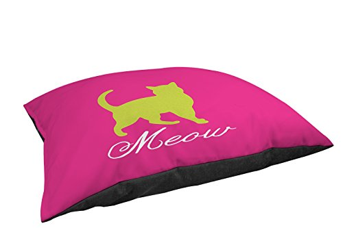 Manual Woodworkers & Weavers Indoor/Outdoor Small Breed Pet Bed, Meow, Pink