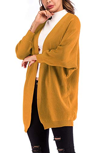 Invernali Invernali Invernali Solidi A Marca Giacca Manica Tempo Tempo Tempo Outerwear Maglia Sciolto Manica Donna Cappotto A Moda Mode Colori Giallo Lunga Libero di Autunno Pipistrello Maglia Cardigan Calda Eleganti YwxOTCqY7