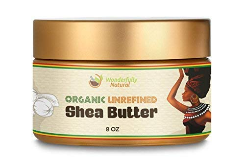 Unrefined Shea Butter - African Organic Ivory & Raw - Use Alone or In DIY Cream, Soap & More! - Vitamins Rich, Natural Healing for Eczema, Stretch Marks, Moisturizing Dry Skin & Hair Care 8 OZ