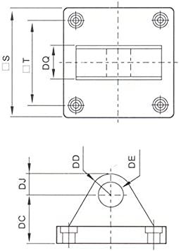 Baomain Foot Flange CB-63 for Foot mounting Work with Pneumatic Standard Cylinder SC 63 CHLED