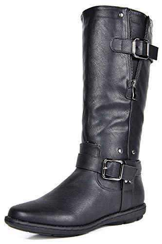 DREAM PAIRS Women's Wilder Black Faux Fur Knee High Winter Snow Boots Size 9 M US (Black Friday Best Deals 2019)