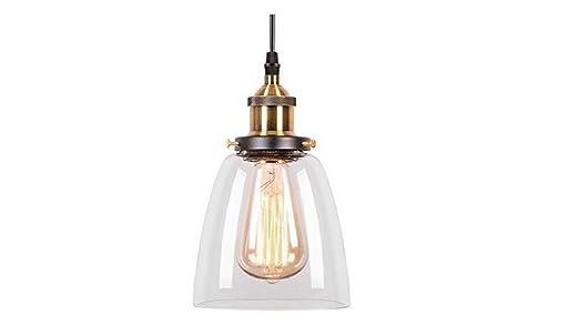 Plafoniere Vetro Vintage : Fbs lampadario sospensione vintage edison industriale paralume in