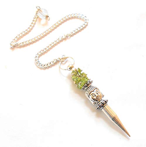 earthegy Peridot Buddha Chip Gemstone Pendulum
