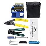 OlogyMart Fiber Optic FTTH Splice Tool Kit FC-6S Cutter Fiber Cleaver Optical Power Meter