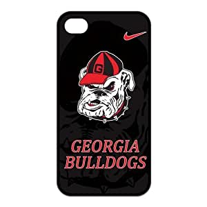 NCAA Georgia Bulldogs iPhone 4/4s Silicon Case Cover, Black Red at NewOne by runtopwell