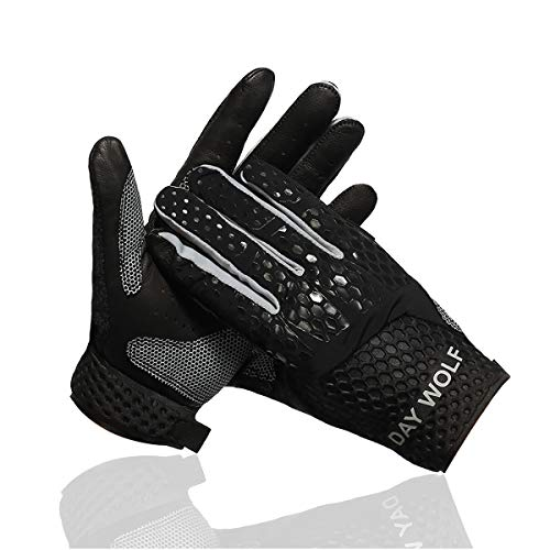 New Full Finger Workout Gloves,Gym Fitness, Weight Lifting Wrist Wraps Genuine Leather Palm Protection & Strong Grip,Quality Breathable Comfort Gloves,Cycling, Pull Ups,Cross Training for Men & Women ()