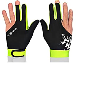 [Gelb] M Größe Drei Finger Billardkugeln Billardtisch Shooters Handschuhe...