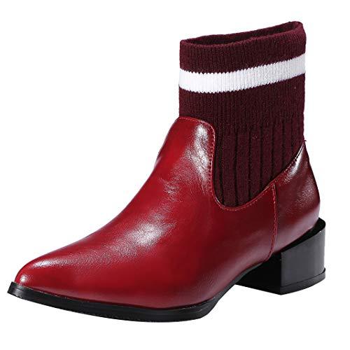 Mavirs Womens Maadul Block Heel Synthetic, Ankle-high 4.5 cm Boots, Synthetic, Heel 4 B(M) US B07GLRJSSK Shoes d7d26b