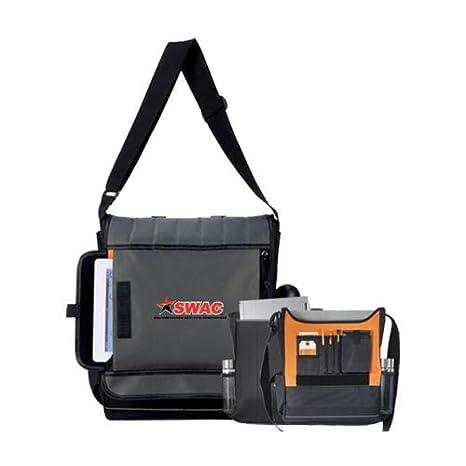 610d6df789f0 Amazon.com : SWAC Impact Vertical Black Computer Messenger Bag 'SWAC ...