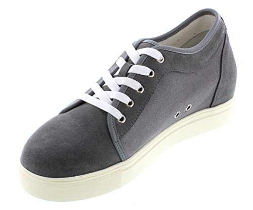 G-CALTO 9719-6,60 (2,6)-Tappetto cm, altezza aumentare ascensore Scarpe in tela, colore: grigio e)
