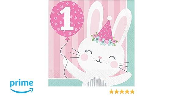 Bunny Party 1st Birthday Napkins 48 ct