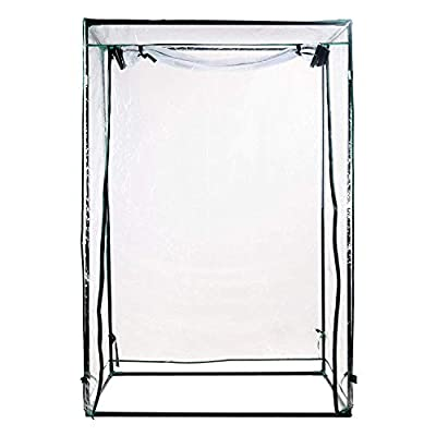 """H&B Luxuries 59"""" Tall Outdoor Garden Mini Greenhouse for Upright Plants GH8109"""