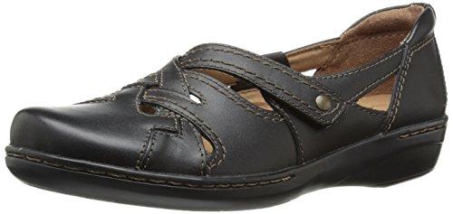 Clarks Women's Evianna Peal Flat, Black, 7.5 M US