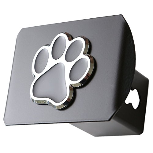 - LFPartS Bear Dog Animal Paw Foot 3D Emblem Metal Trailer Hitch Cover Fits 2