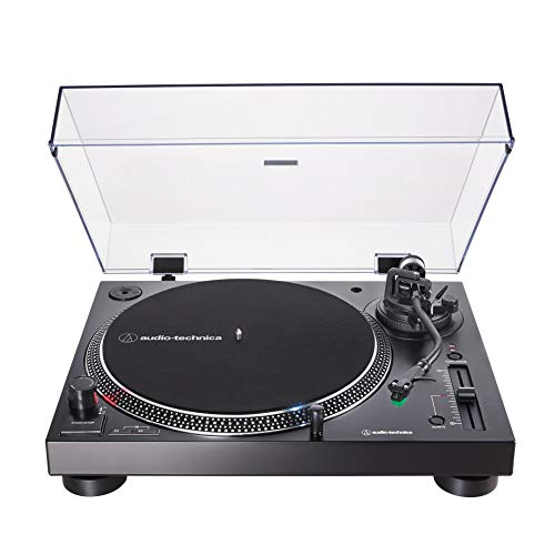 Audio-Technica AT-LP120XUSB Direct-Drive Turntable (Analog & USB), Black, Hi-Fidelity, Plays 33 -1/3, 45, and 78 RPM Records, Convert Vinyl to Digital, Anti-Skate Control, Variable Pitch Control