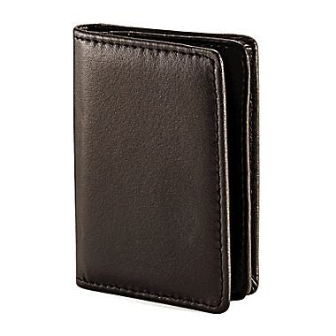 Samsonite Genuine Leather Business Card Wallet (One Size, Black)