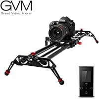 "Camera Slider, GVM 48"" Motorized DSLR Camera Track Dolly slider Video Stablilzer Rail with Time Lapse Tracking and 120-degree Panoramic Video Shooting, Perfect Photograph Movie Film Video Making"